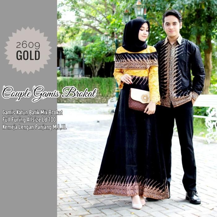 Jual Baju Couple Gamis Brokat Kebaya Mix Batik Dan Kemeja Batik Kode 2609 Kab Sukoharjo Wisnuk Olshop Tokopedia