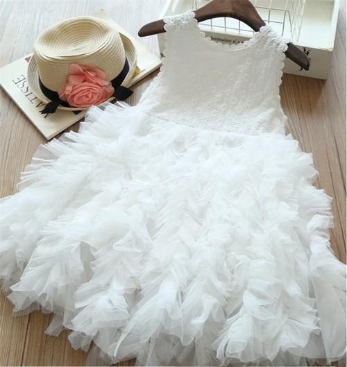 Jual C88411 White Gaun Pesta Anak Cewek Cantik Elegan Cinomulyo28