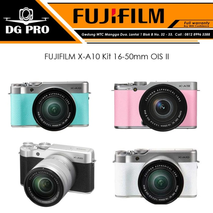 harga Fujifilm x-a10 kit 16-50mm ois ii originalfuji xa10fuji film xa-10 - putih Tokopedia.com