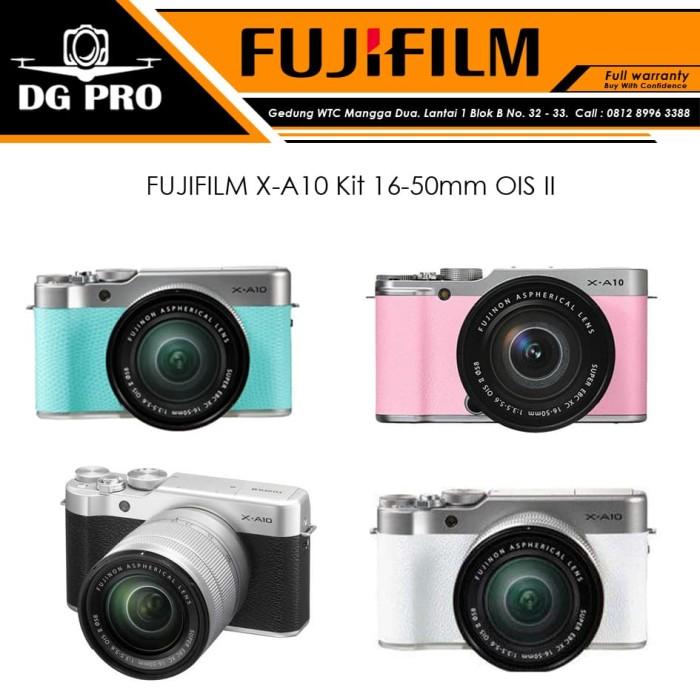 harga Fujifilm x-a10 kit 16-50mm ois ii originalfuji xa10fuji film xa-10 - hitam Tokopedia.com