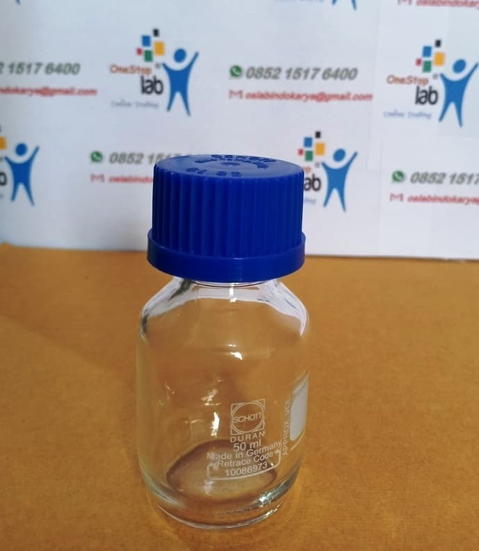 Jual Botol Lab sample cap 50 ml Laboratory Bottle clear screw DURAN - Kota  Bekasi - OneStop Laboratory | Tokopedia