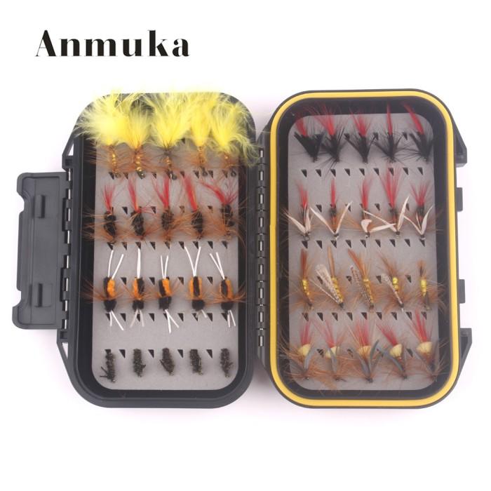 Fishing Flies 40Pcs//Box Bionic Fishing Lure Crankbait Fishing Tackle 2 Colors ON