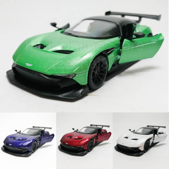 Jual Kinsmart Diecast Aston Martin Vulcan 4 Color Vaiant Scale 1 36 Jakarta Barat Limar Corps Diecast Tokopedia