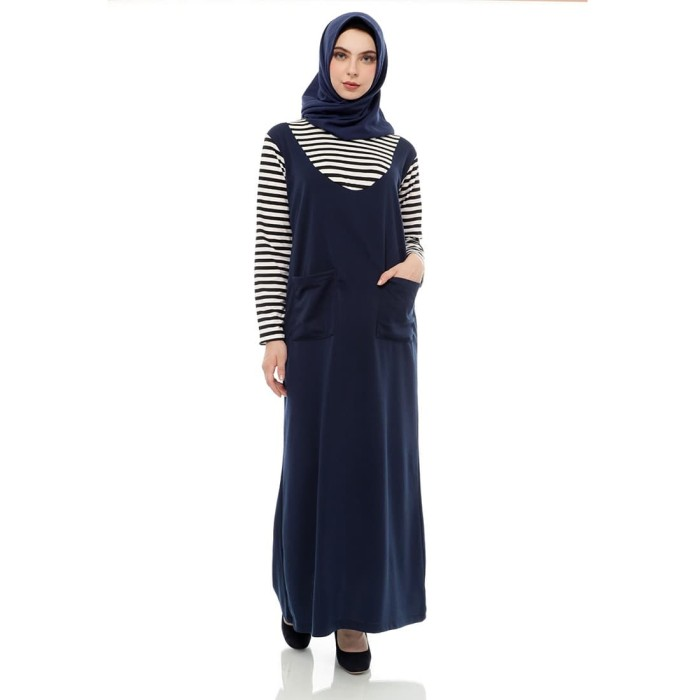 Foto Produk Mybamus Base Stripe With Lacost Dress Navy M12006 R2S2 dari Mybamus Official