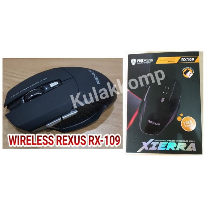 REXUS RX-109 WIRELESS MOUSE GAMING / MOUSE GAMING REXUS XIERRA RX-109