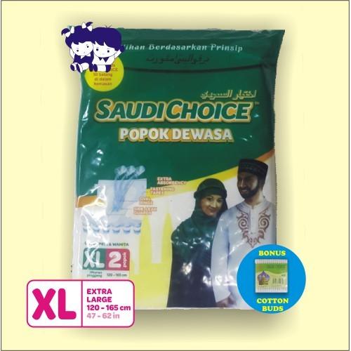 Popok Dewasa Adult Diapers SAUDI CHOICE size XL isi 2 pcs