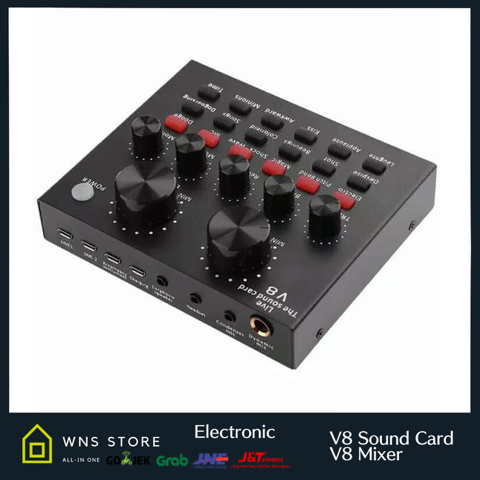 harga Soundcard v8 mixer sound card v8 mixer audio usb external soundcard Tokopedia.com