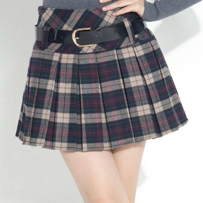 149186ea8 Jual Rihschpiece Lolita Mini Skirt Women Vintage Kilt Winter Tutu ...