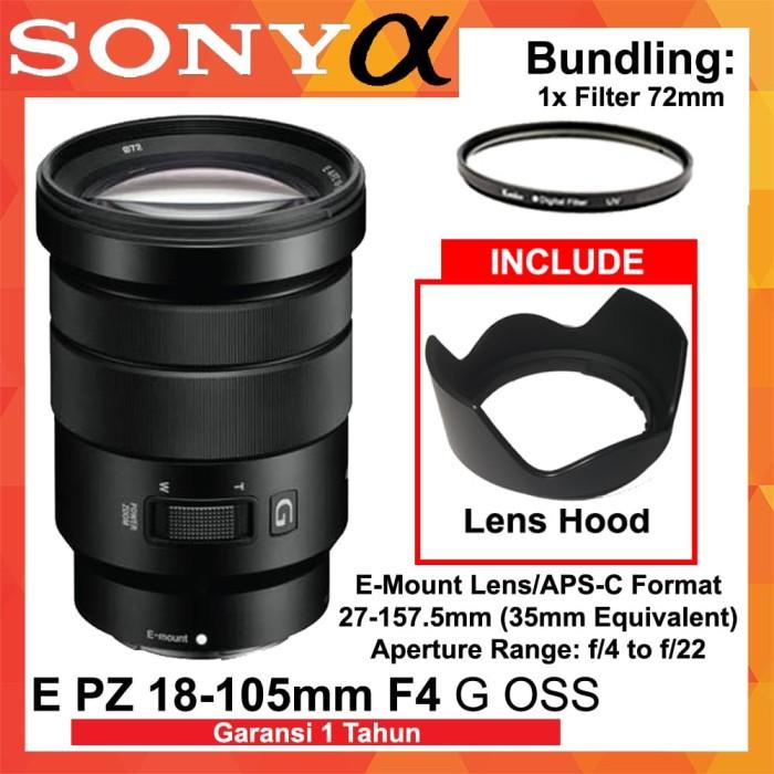 Foto Produk Lensa SONY E PZ 18-105mm f/4 G OSS Garansi Resmi 1th - Filter dari Focus Camera Online