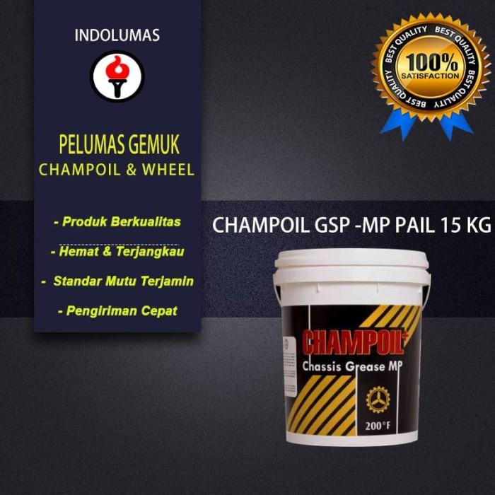 Jual Grease/Gemuk/Pelumas Champoil GSP Chassis Grease MP Pail 15kg - DKI  Jakarta - Pelumas Gemuk Terbaik | Tokopedia