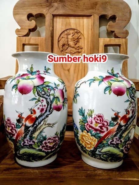Jual Guci Vas Pot Bunga Persik Pajangan Jakarta Barat Sumber Hoki9 Tokopedia