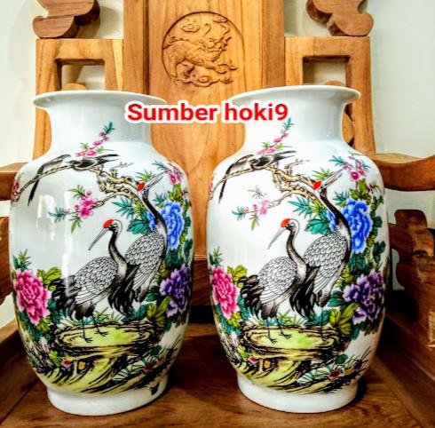Jual Guci Vas Pot Bunga Burung Merak Pajangan Dekorasi Jakarta Barat Sumber Hoki9 Tokopedia