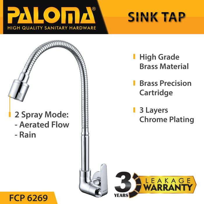 Foto Produk PALOMA FCP 6269 Keran Sink Fleksibel Angsa Cuci Piring Dapur Kran Air dari PALOMA HARDWARE