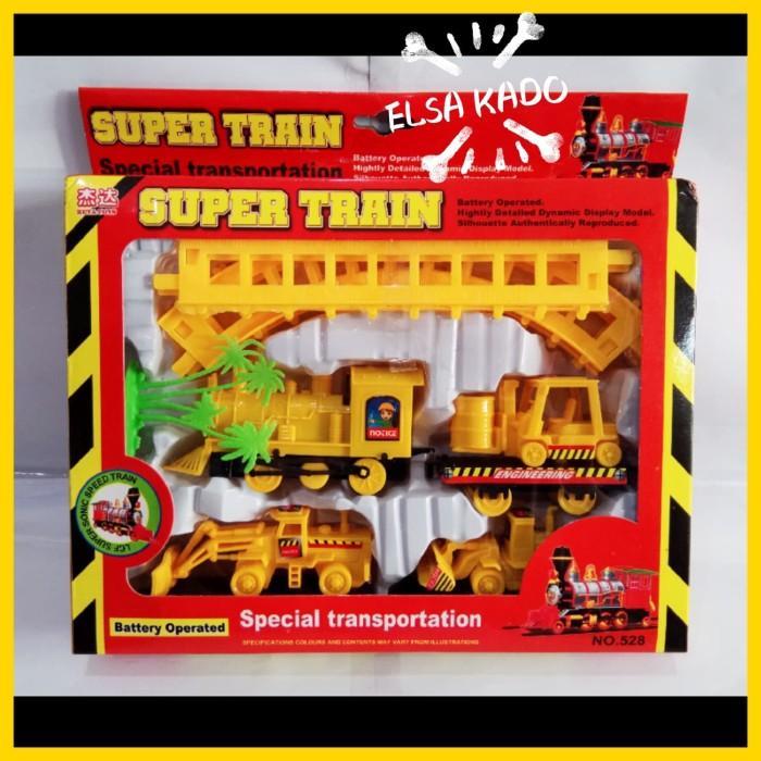 Foto Produk mainan kereta api rel lokomotif super train track racer lintasan mobil dari Elsa Kado