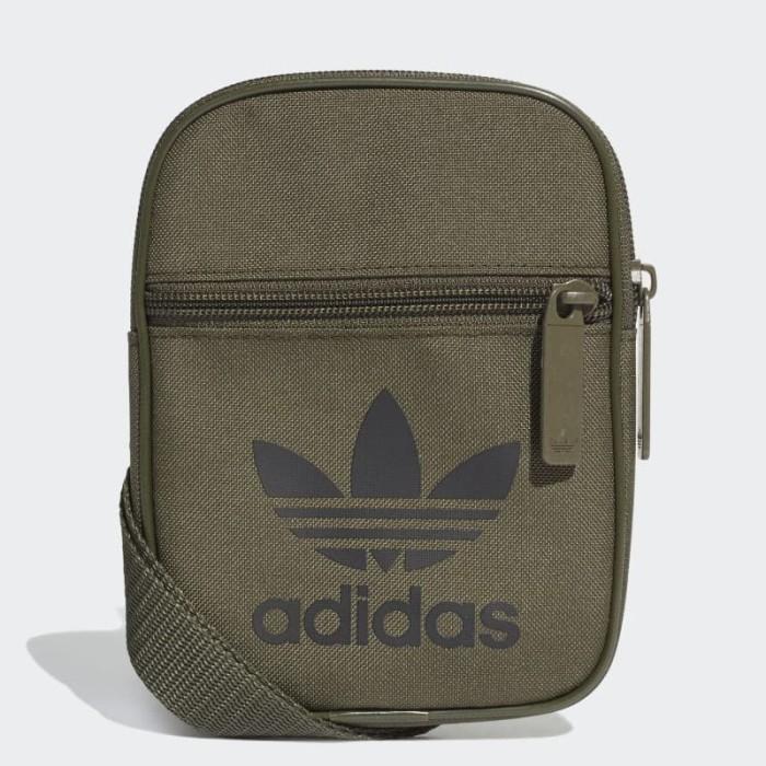 eb88b8762da Tas Adidas Originals Trefoil FESTIVAL BAG Olive Green Black ORIGINAL