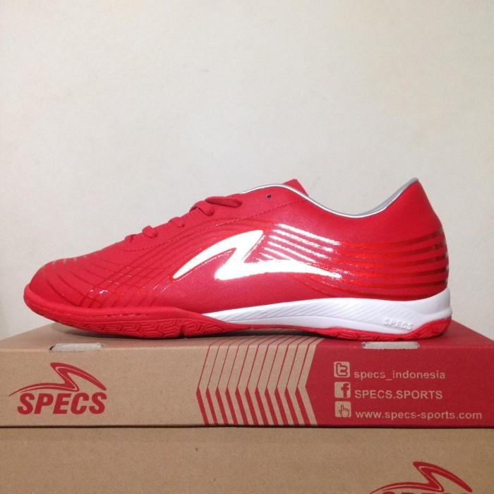 Promo Sepatu Futsal Specs Accelerator Infinity 19 In Red Silver