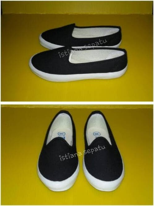 Jual Sepatu Anak Sekolah Slipon Flatshoes Selop Tanpa Tali Murah