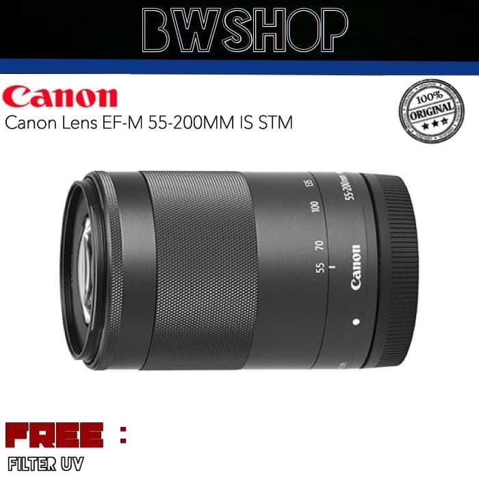 Foto Produk LENSA CANON EFM 55-200MM IS STM - LENSA CANON 55-200 MIRRORLESS dari bw shop-
