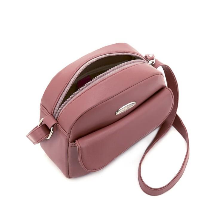 Tas selempang wanita pink