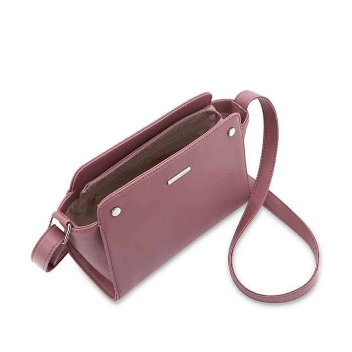 Tas selempang wanita sophie martin kecil pink kulit