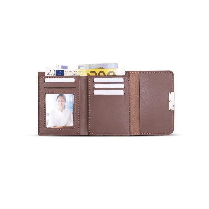 Dompet kecil wanita ungu kulit korea