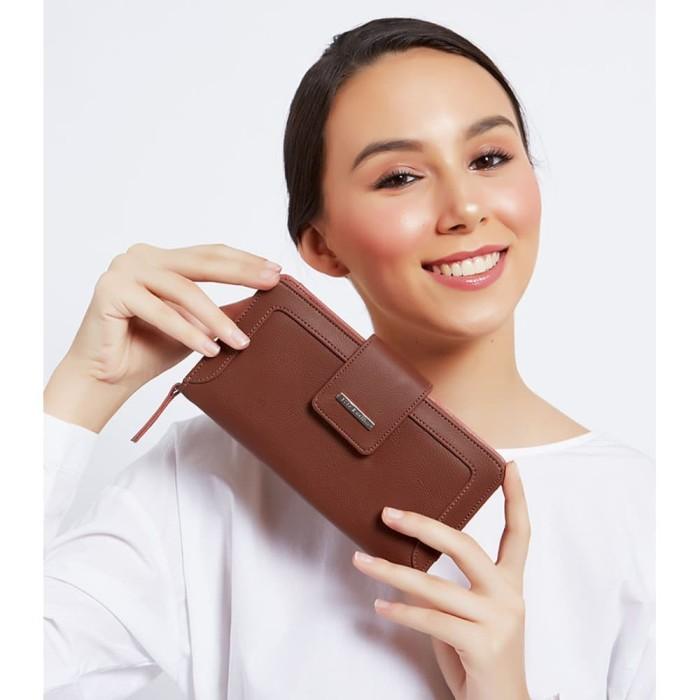 Dompet wanita coklat import premium