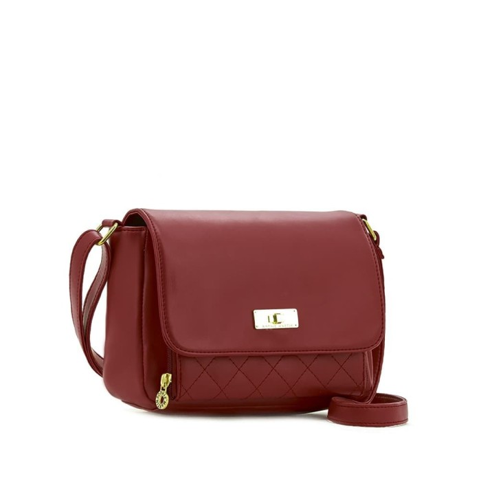 Tas selempang wanita merah import