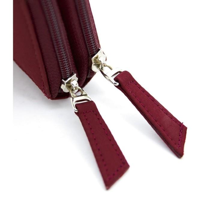 Dompet wanita import branded maroon korea
