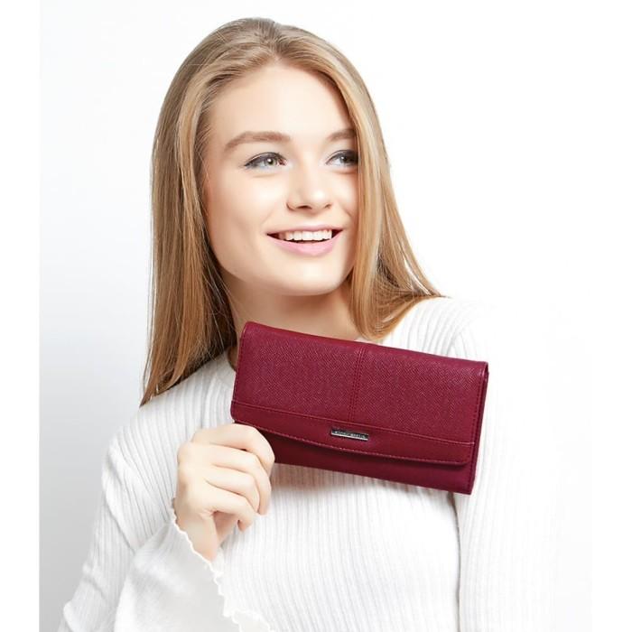 Dompet wanita merah import alba paris