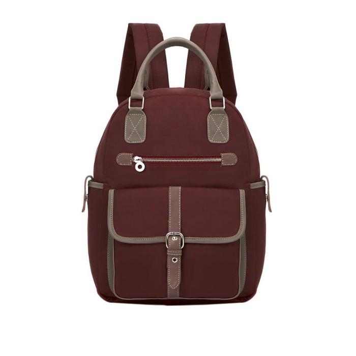 Tas ransel wanita backpack maroon