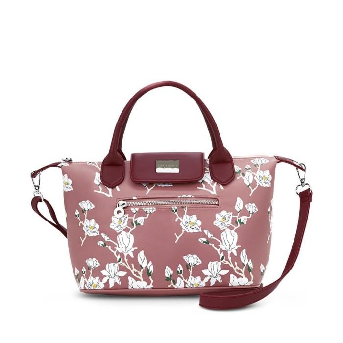 Tas selempang wanita sophie martin pink bunga