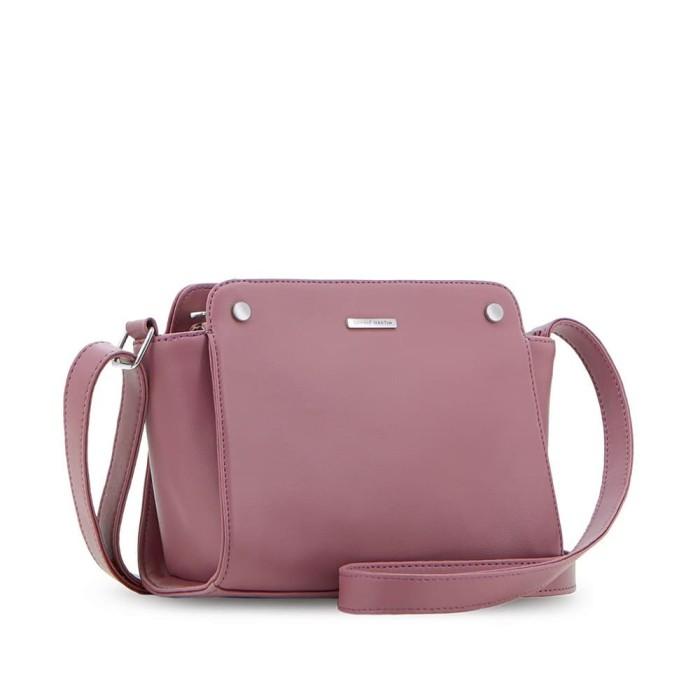 Tas selempang wanita kecil pink kulit