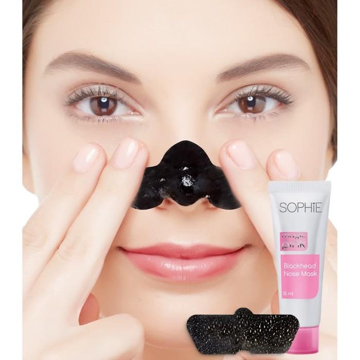 Masker hidung komedo sophie martin blackhead nose mask