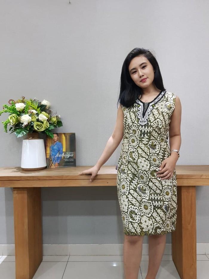 Foto Produk Dress Batik Katun Tulis Cirebon Brand Batik Muda - BAAD22153 (Uk L) dari BatikMuda