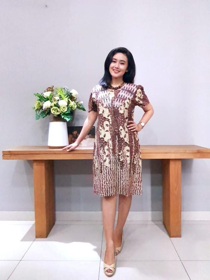 Foto Produk Dress Batik Katun Cirebon Brand Batik Muda – BAAD72123 (Uk L ) dari BatikMuda