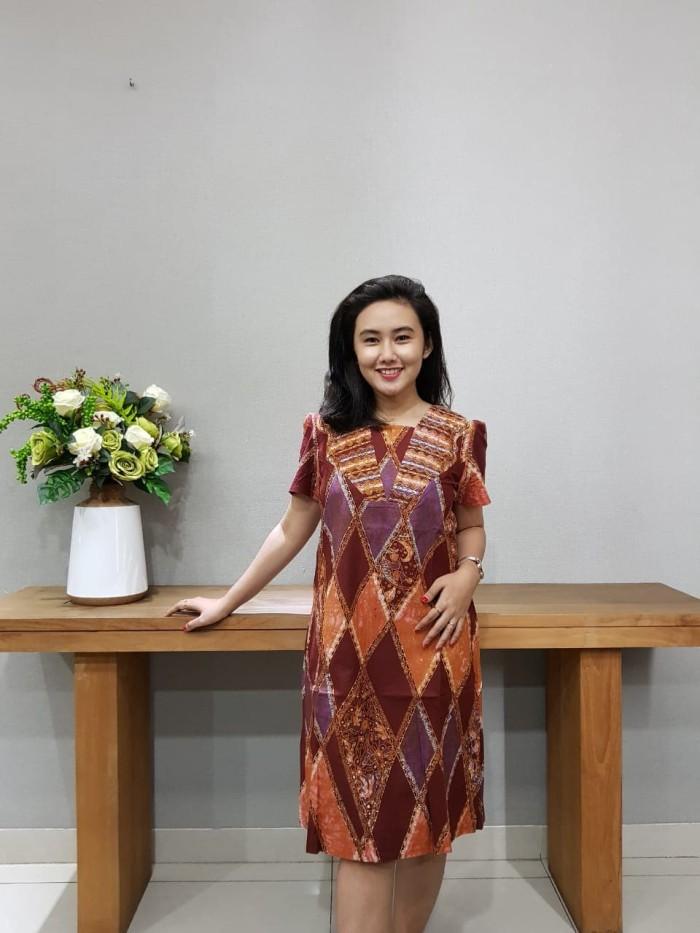Foto Produk Dress Batik Katun Cirebon Uk M Brand Batik Muda – BAAD72122 dari BatikMuda