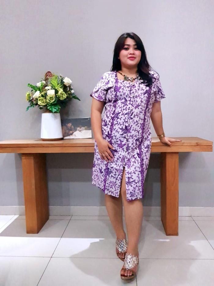 Foto Produk Dress Batik Katun Tulis Lasem Brand Batik Muda - BAAD25135 (Uk XXL) dari BatikMuda