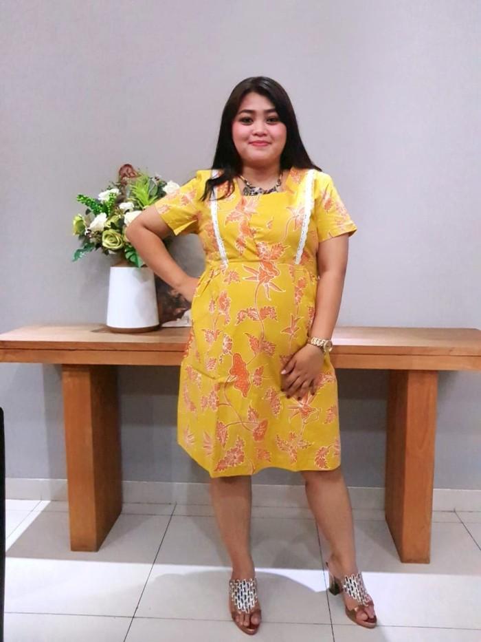 Foto Produk Dress Batik Katun Cirebon Brand Batik Muda Uk XL – BAAD72114 dari BatikMuda