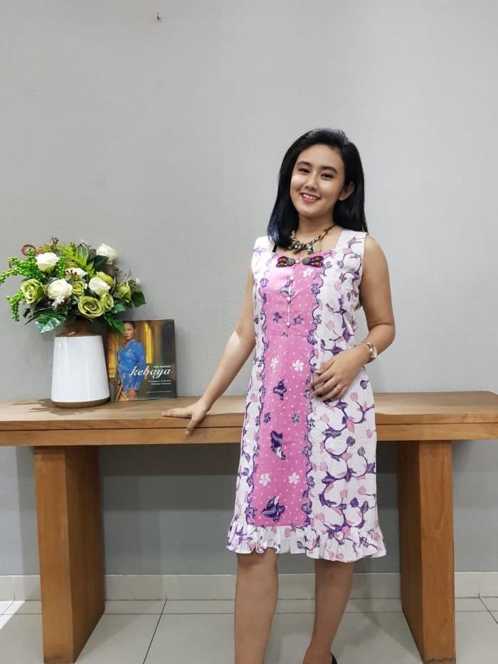 Foto Produk Dress Batik Katun Tulis Lasem Brand Batik Muda - BAAD25153 (Uk L) dari BatikMuda