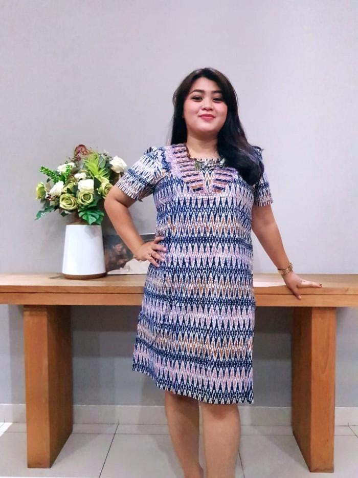 Foto Produk Dress Batik Katun Cirebon Brand Batik Muda Uk XL – BAAD72124 dari BatikMuda