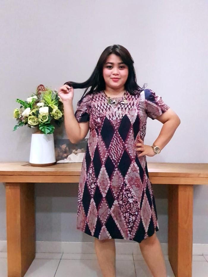 Foto Produk Dress Batik Katun Cirebon Brand Batik Muda Uk XL – BAAD7214 - Hitam, XL dari BatikMuda