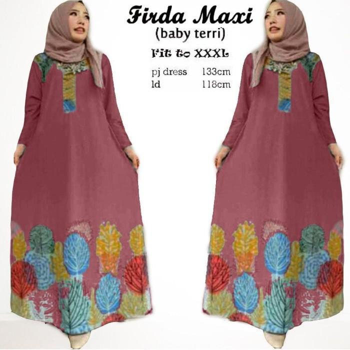 Jual Promo Maxi Firda Dress Terlaris Dress Muslimah Dress Simple Baju Dki Jakarta Adly Fashion Tokopedia
