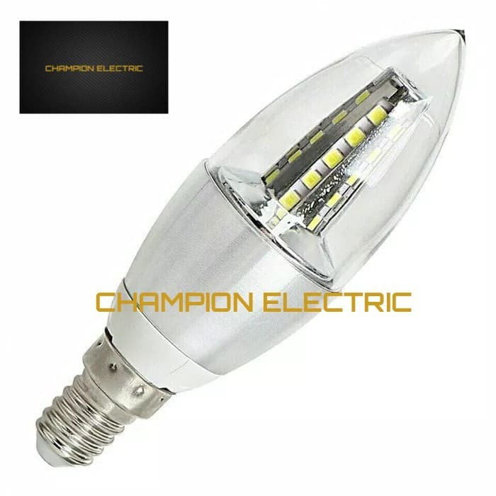 Foto Produk lampu LED Candle 5W Lilin Gantung 5 Watt Fitting E14 Putih White dari Champion Electric