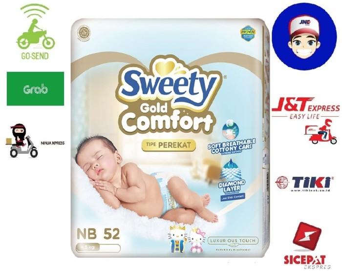 harga Pampers sweety comfort gold newborn 52 popok bayi Tokopedia.com