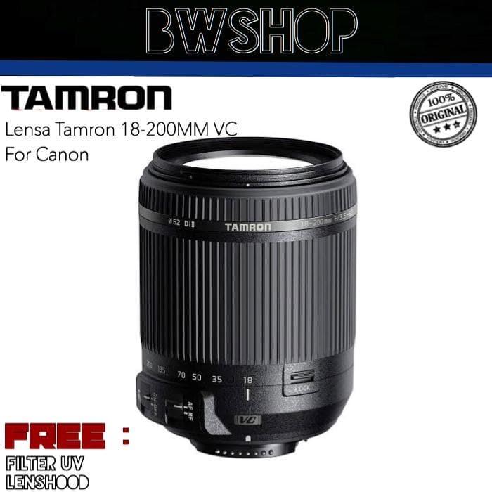 Foto Produk LENSA TAMRON 18-200MM f/3.5-5.6 Di-II VC FOR CANON dari bw shop-