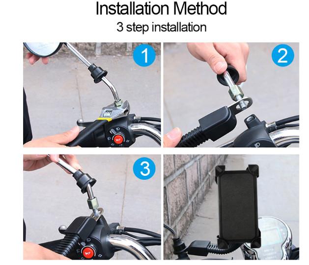 harga Dudukan hp di motor phone holder motor gps motor bisa untuk gojek grab Tokopedia.com