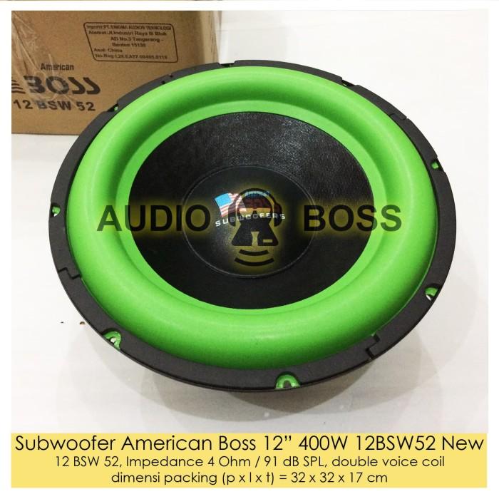 harga Speaker subwoofer american boss 12 inch 400 watt / amric boss 12  400w Tokopedia.com