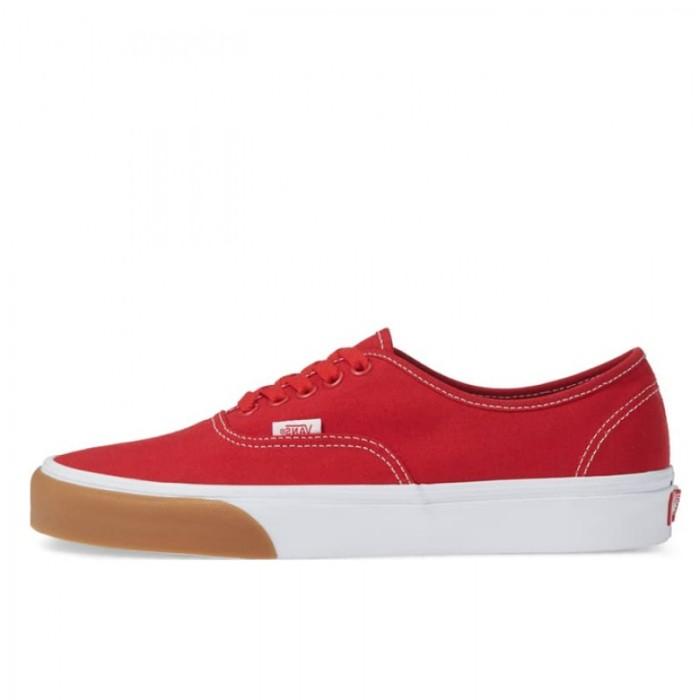e558209477 Sepatu Sneakers Vans Authentic Gum Bumper Red Original VN0A38EMUK1