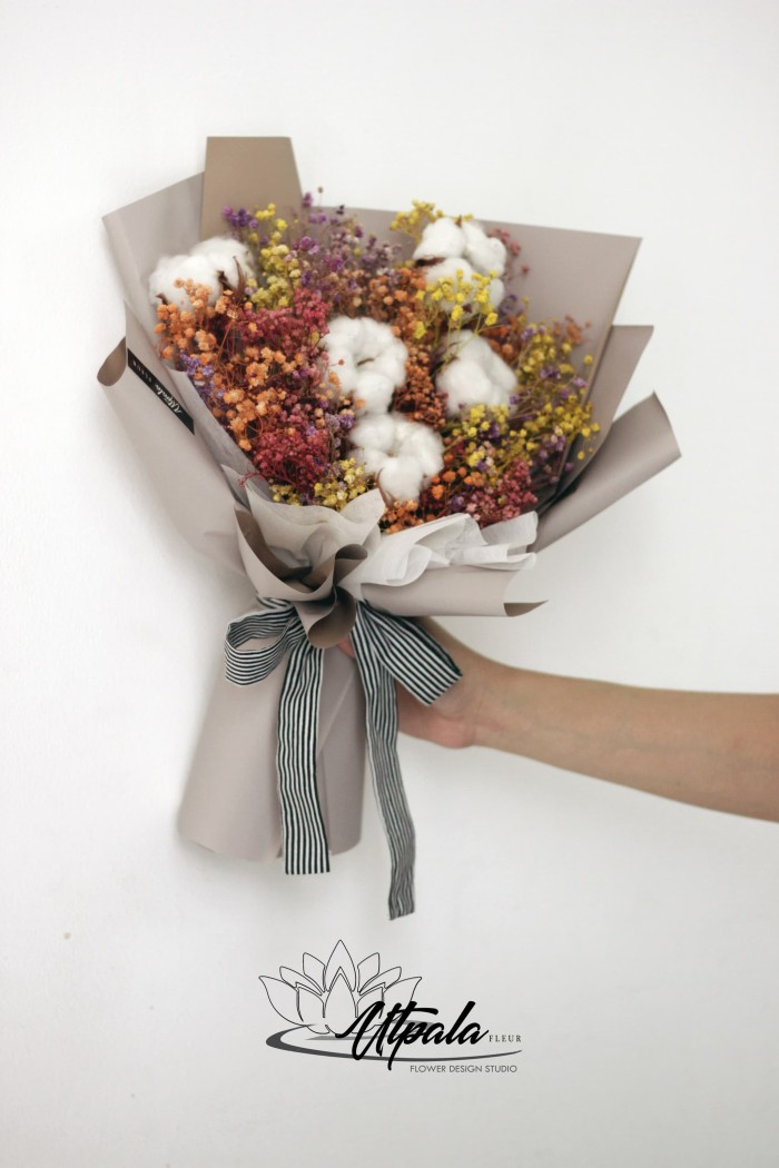 Jual Dried Flower Bouquet Kota Surabaya Utpala Fleur Florist Tokopedia