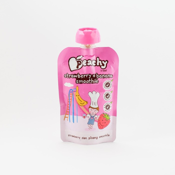 harga Peachy strawberry and banana smoothie Tokopedia.com